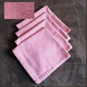 5/$25Pier 1 Imports Red Gingham Cloth Napkins Set4